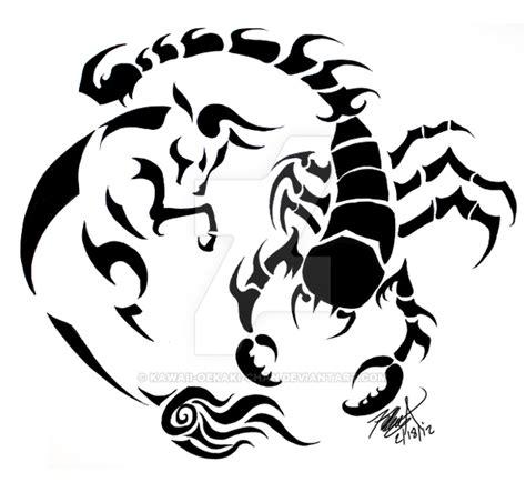 taurus and scorpio tattoo design by kawaii oekaki chan on