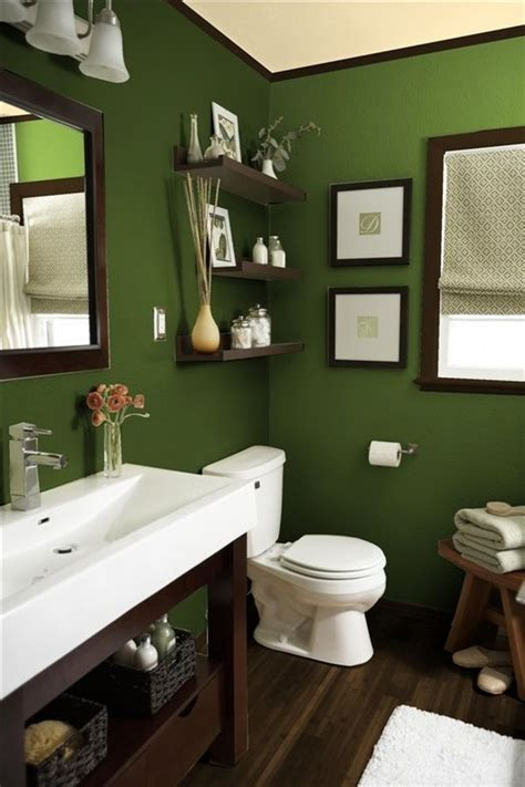dark green bathroom dark bathroom green shade home decorating trends homedit