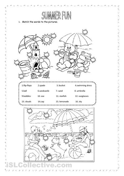 printable preschool summer activities 5 best images of free printable summer activity worksheets