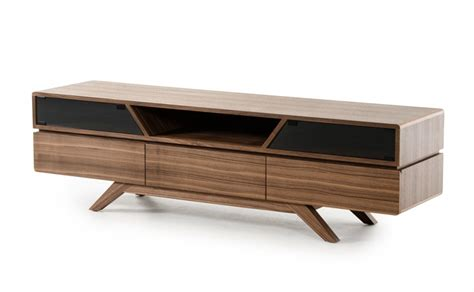modern tv media furniture mid century modern walnut wood tv media stand modern