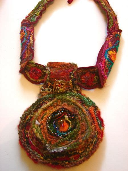 Handmade Fabric Jewelry - 17 best images about jewelry the necklace on