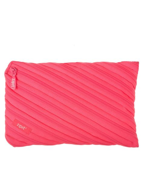 Pink Pouch zipit neon jumbo pencil pouch dazzling pink pencil cases pouches backpacks bags