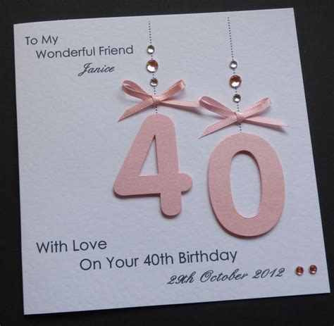 Handmade 50th Birthday Cards - handmade personalised 30th 40th 50th 18th 21st any age
