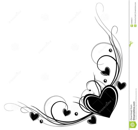 border with hearts stock vector illustration of