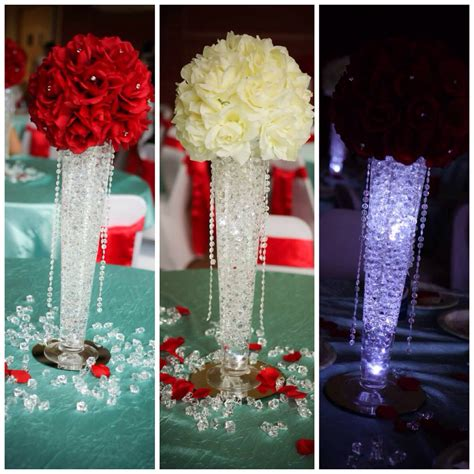 my daughter s quinceanera centerpieces theme was quot bling