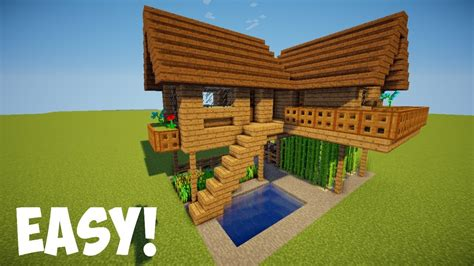 membuat rumah mewah di minecraft minecraft tutorial cara membuat rumah survival 7 youtube