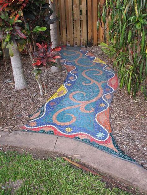 Mosaic Garden Ideas 20 Creaive Ideas For Beautiful Garden Paths And Walkways