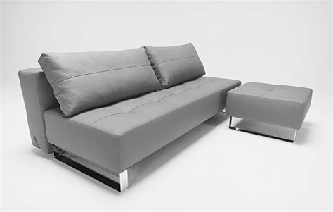 grey leather bed supremax deluxe excess sofa bed grey leather textile by