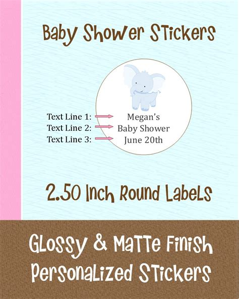 personalized baby shower labels 12 personalized baby shower sticker labels