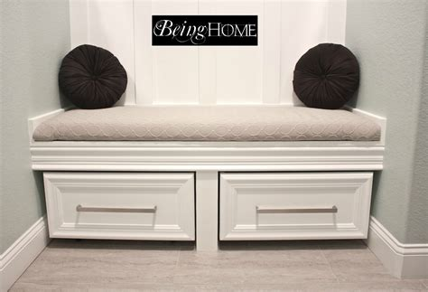 built in storage bench with drawers reincarnated rolling shoe storage get home decorating