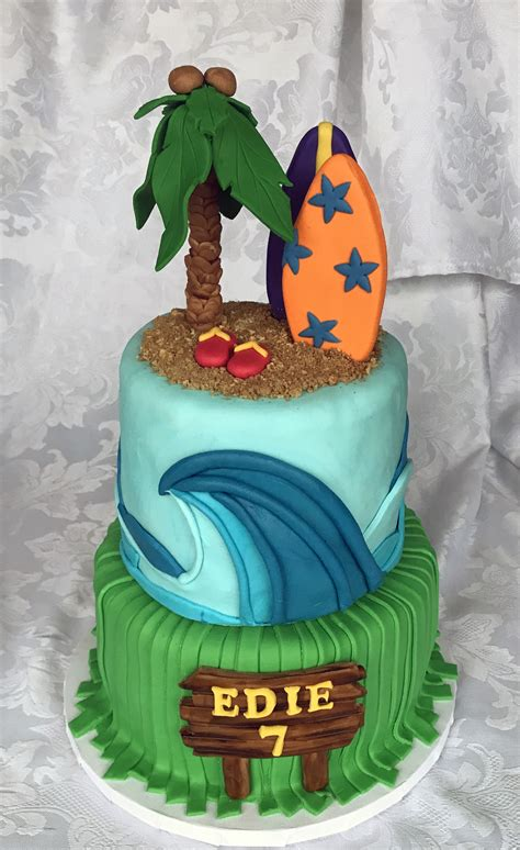 just like home design your own cake luau cake story kay cake designs