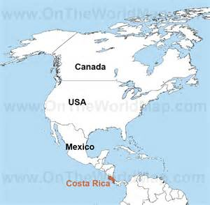 Costa Rica Map World by Pin Map Of Costa Rica World Map Of Images On Pinterest