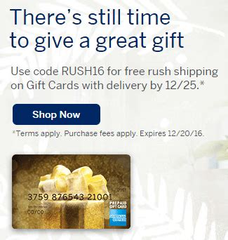 Amex Gift Card Free Shipping - american express gift cards free rush shipping stack with amex offer for 10