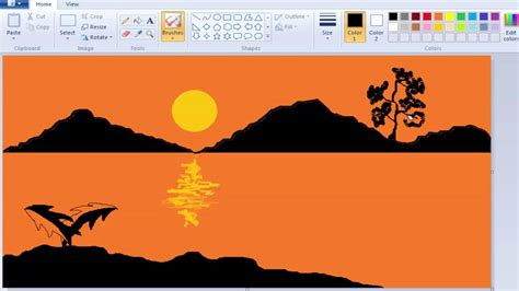 how to draw a boat in ms paint how to draw and paint a natural scenery on windows 7 ms