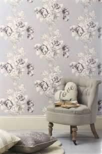 Mauve Living Room Wallpaper Fleur Mauve Wallpaper Next Lucky Minute