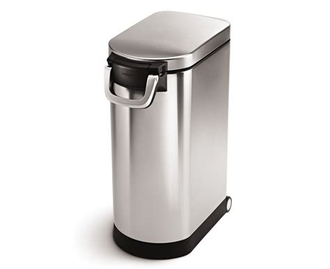 food bin simplehuman x large pet food bin fingerprint proof brushed stainless steel