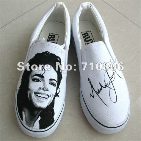 diy painted canvas shoes sneakers michael jackson diy painted canvas shoes