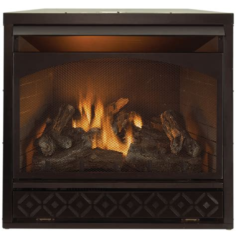 lowes gas fireplace insert shop procom 35 in w 32 000 btu black vent free dual burner