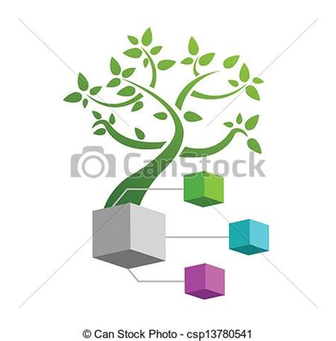 Concept Illustration Family Tree Illustration Design Over A White Background Family Tree Concept Stock Vector