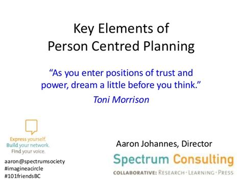 elements of person centered planning