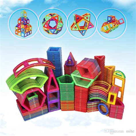 Puzzle Magnet F magnetic building puzzle square and triangle set magnet block toys for children