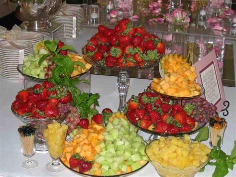 fruit table display skyline cafe