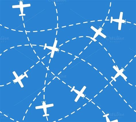 pattern airplane seamless background with airplanes patterns on creative