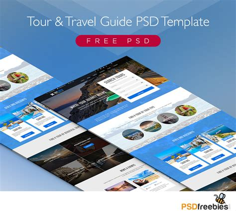 Modern Travel Booking Site Web Template Free Psd Download Psd Booking Website Template Free