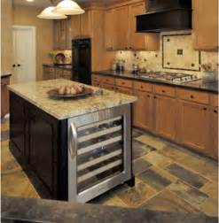 kitchen island with wine cooler rta kitchen cabinets