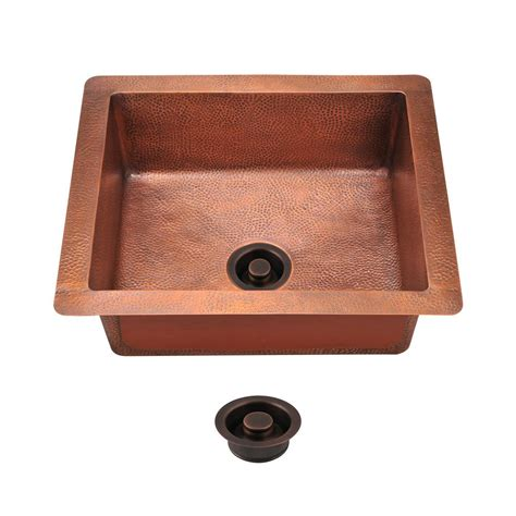 kitchen sinks direct mr direct all in one undermount copper 25 in single bowl