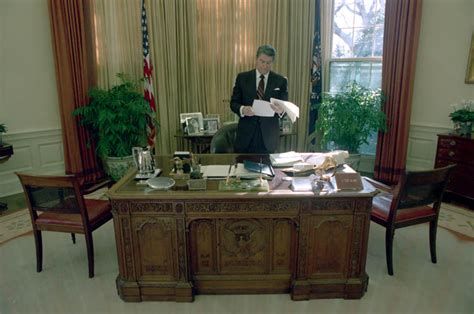 reagan oval office president ronald reagan alone in the white house oval