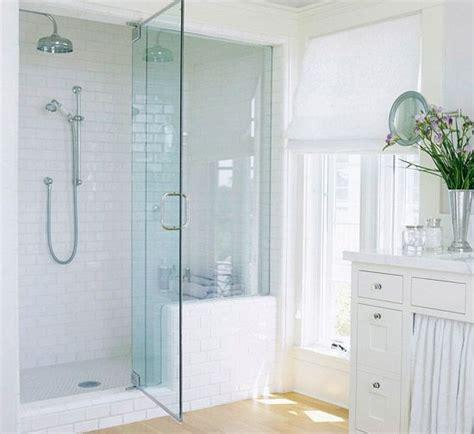 white subway tile walk in shower walk in shower ideas