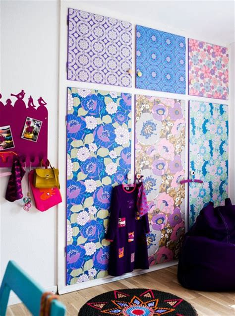 pattern for dress up closet home dzine bedrooms dress up closet doors with fabric