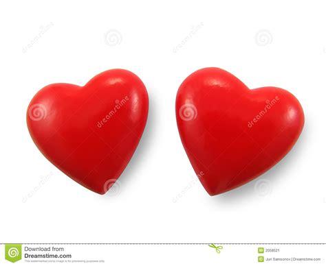 imagenes de dos corazones unidos dos corazones rojos imagen de archivo imagen de