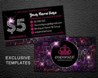 Paparazzi Card Etsy Paparazzi Business Card Template