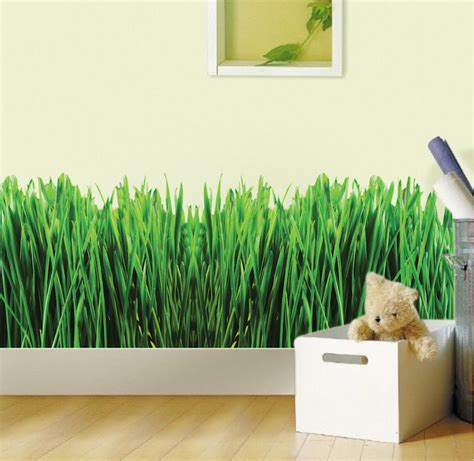 wall decal murals grass wall mural decal garden wall decal murals