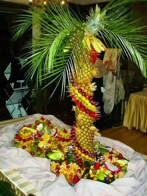 Fruit For Decoration by Table Decoration Fruits With Tropical Island Theme