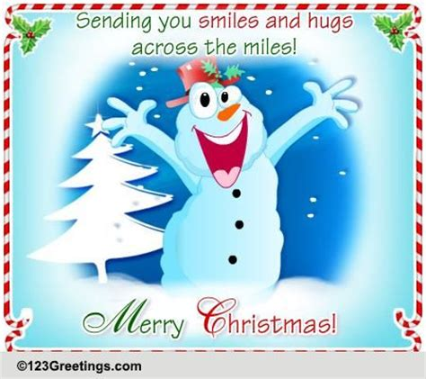 christmas holiday hugs  miles  family ecards greeting cards