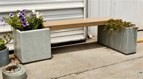 how to make a concrete bench park avenue bench and planter concrete exchange