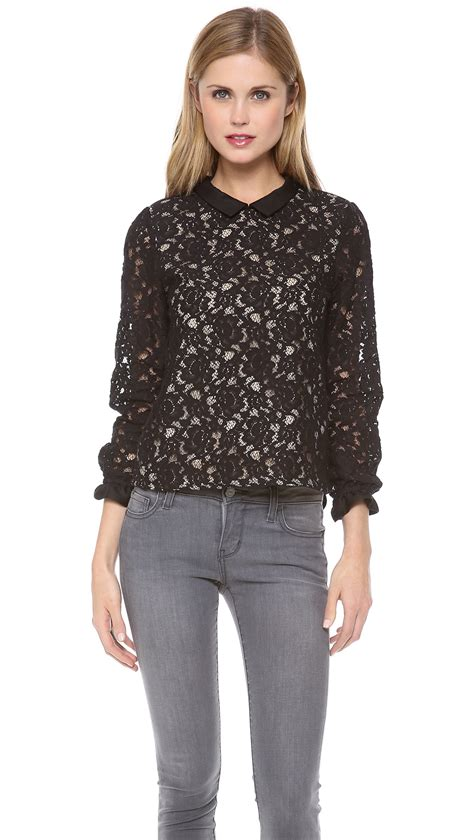 And Black Lace Blouse by Black Lace Sleeved Blouse Mexican Blouse
