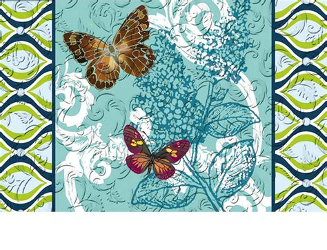 Pretty Doormats Floral Embossed Pretty Pattern Butterflies Doormat 19 X 30
