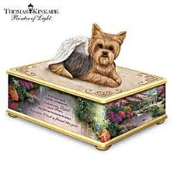 yorkie memorial kinkade my forever friend handcrafted yorkie keepsake box