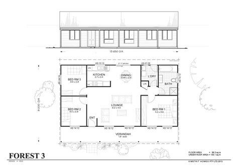 forest 3 met kit homes 3 bedroom steel frame kit home