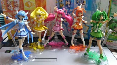 Pretty Cure Figure Set 3 smile precure happy peace march shf s h figuarts