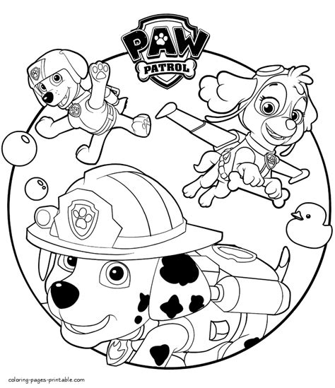 printable coloring pages for paw patrol paw patrol cartoon coloring sheets to print