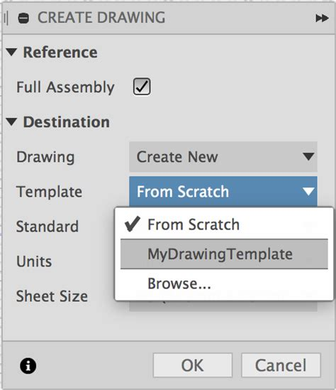 Fusion 360 Drawing Template