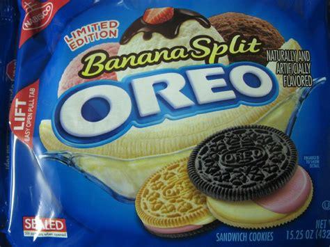 Banana Crispy Black White Oreo we tasted the new fruit punch oreos so you don t to huffpost