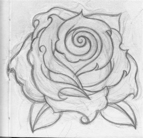 simple rose tattoo drawing rose drawings cool eyecatching tatoos tats pinterest