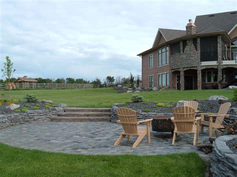 Hillside Patio by Landscape Ideas On Sloped Backyard Hillside
