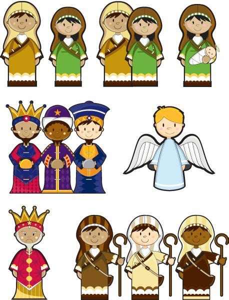 printable nativity scene characters 17 best images about nativity on pinterest nativity sets